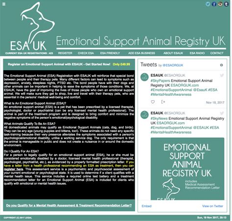 register your as an emotional support animal emotional support animal registry uk end of terror