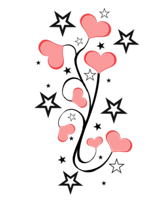 heart and star tattoo designs and hearts designs cliparts co