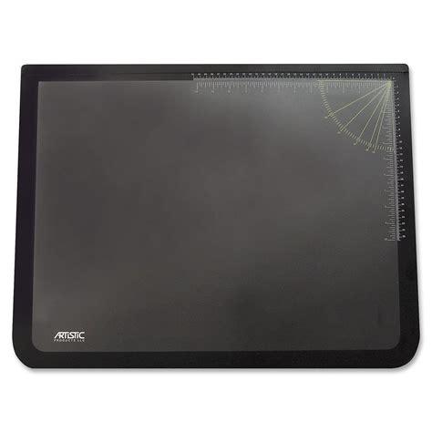 Desk Pad by Artistic 19 Quot X 24 Quot Logo Pad Lift Top Desk Pad Black Clear