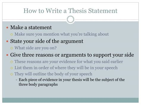 build a thesis statement how to create a thesis statement 28 images st joseph