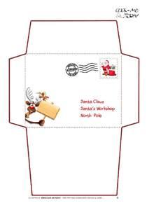 santa claus template printable letter to santa claus envelope template