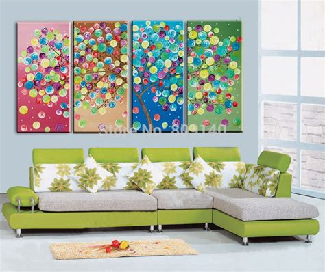 canva qa abstract colorful bubbles tree oil painting canva quality