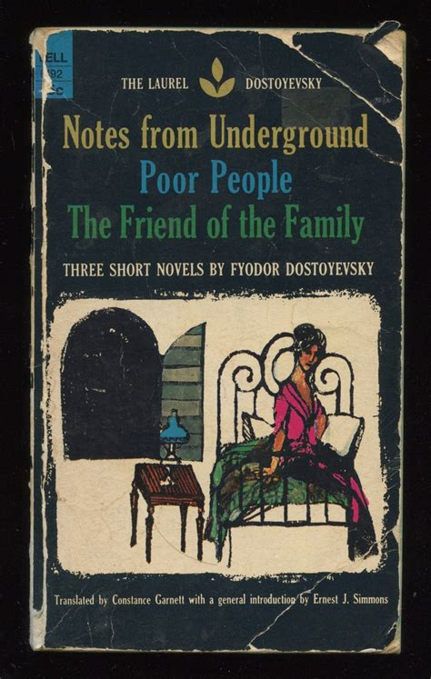 libro notes from the underground notes from underground poor people the friend of the family by fyodor dostoyevsky good