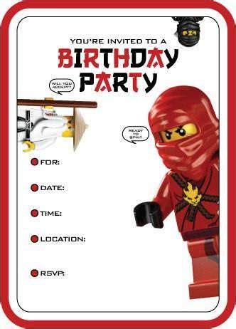 Ninjago Printable Birthday Card