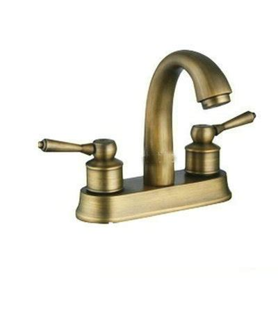 european style antique brass two handle centerset bathroom