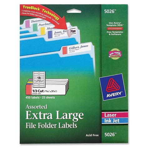 avery 5026 template avery large filing label ld products