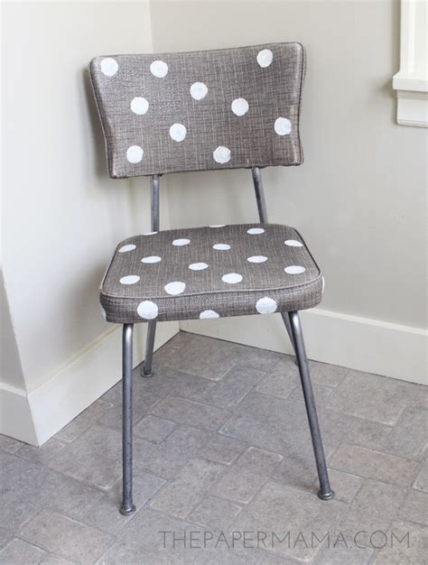 Dot Chair by Gold Polka Dot Chair A Makeover Story The Paper