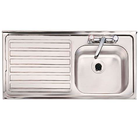 stainless steel sink hole clearwater contract sbsd 2 tap hole single bowl stainless