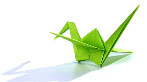 Crane Origami - how to make a crane origami