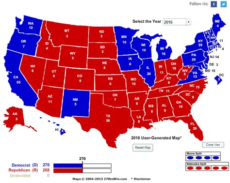 the electoral map presidential race ratings and swing electoral college map by state new style for 2016 2017