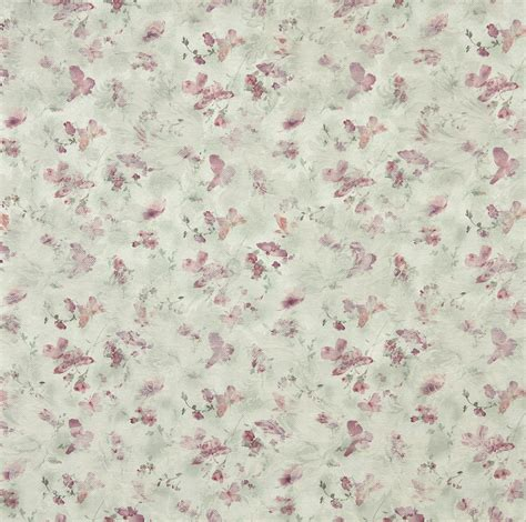 Watercolor Upholstery Fabric by Mint Coral And Light Green Watercolor Butterfly Woven