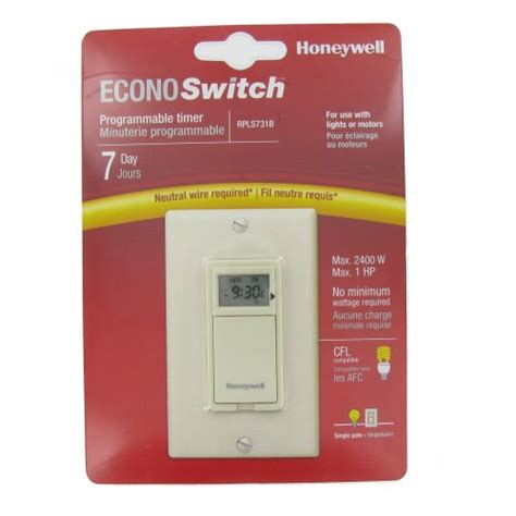 honeywell rpls530a1038 u 7 day programmable light switch timer instructions lights programmable 100 images diy programmable