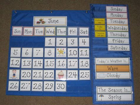 Calendar Pocket Chart Discover And Save Creative Ideas