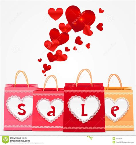 shopping for s day valentines day vector shopping bags greeting card stock