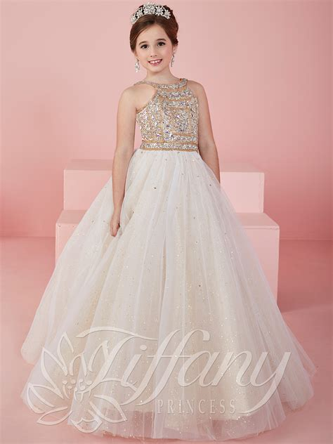 Dress Princes princess 13462 scoop neckline gown pageant