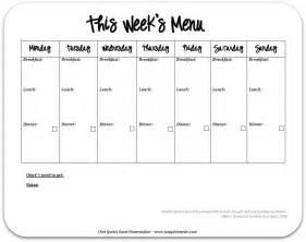 blank weekly menu template printable food calendar new calendar template site