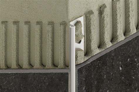 decorative wall edge trim schluter 174 deco de edging outside wall corners for