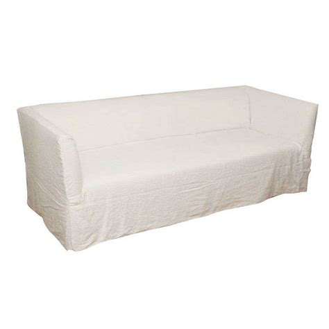 linen slipcovered sofa belgian linen slipcovered quot roma quot sofa at 1stdibs