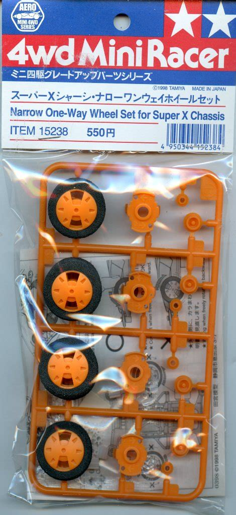 Tamiya Narrow One Way Wheel Set For X Chassis Item 15238 tamiya 4wd mini racer narrow one way wheel set for x chassis 2 pack 15238 ebay