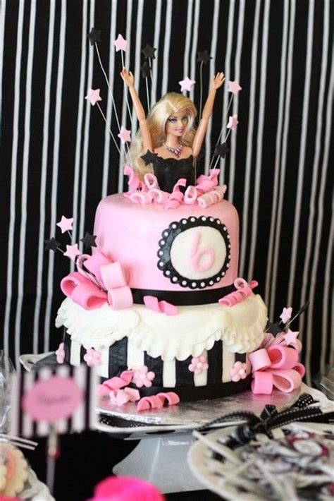 barbie theme images  pinterest barbie party anniversary cakes  barbie cake