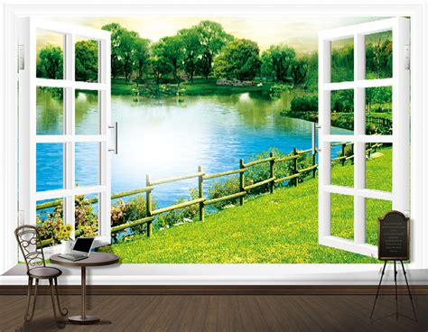 Wall Stiker Dinding 60x90 2 Gadis Jepang custom modern 3d stereoscopic tv backdrop mural wallpaper