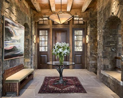 rustic entryway cozy country rustic foyer by jerry locati