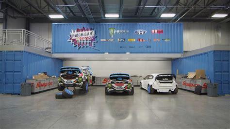 ken block ford racing visits hoonigan racing