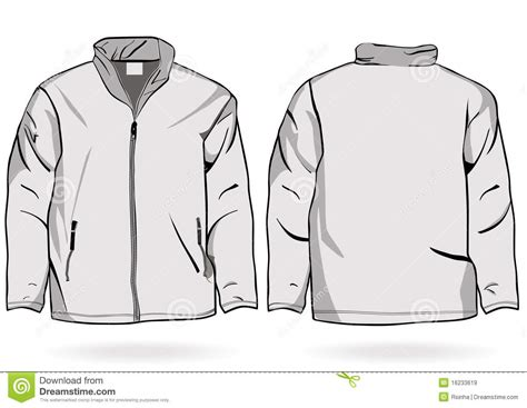 men s jacket or sweatshirt template with zipper royalty