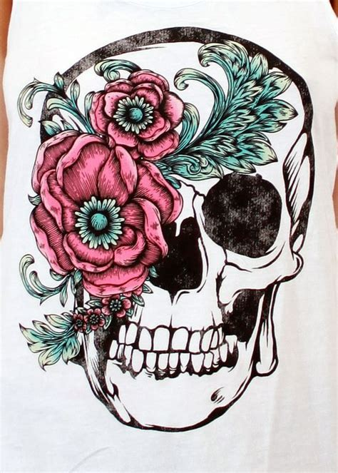 calavera flor arte pinterest design flower and patterns