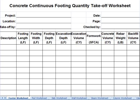 download concrete takeoff sheet free onlinenewsvenue for