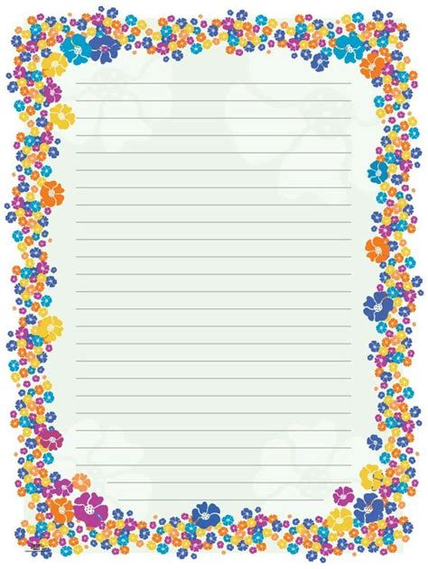 writing paper designs blank paper flowers stationery borders for adults