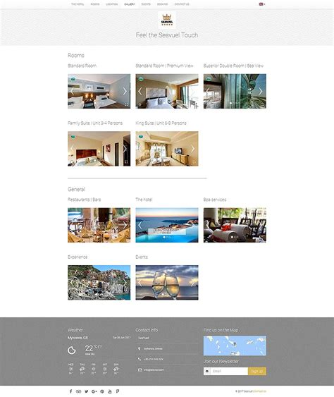 bootstrap themes hotel seavuel multilingual hotel website with cms