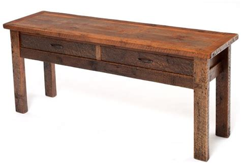 distressed barnwood sofa table aged barn wood sofa table