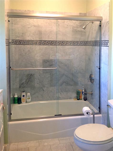 shower to bathtub glass shower enclosures and doors gallery shower doors