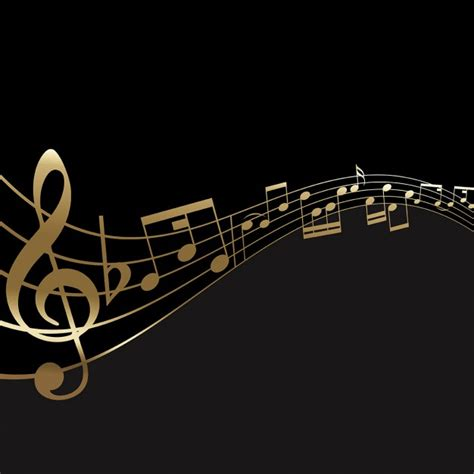 wallpaper gold music gold music notes with black background www imgkid com