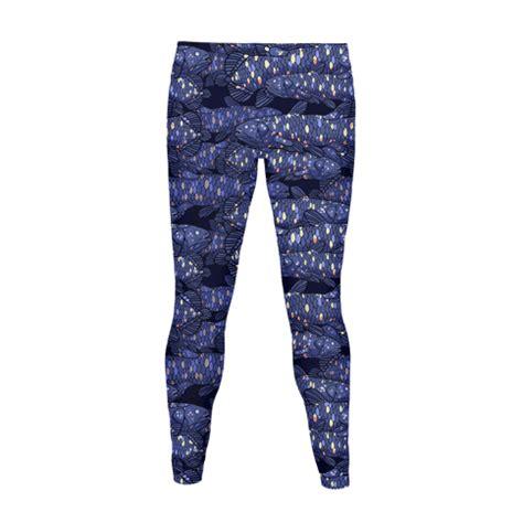Pattern Living Leggings | nautical coelacanth fish pattern women s leggings human