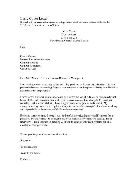 basic cover letter korest jovenesambientecas co regarding example of