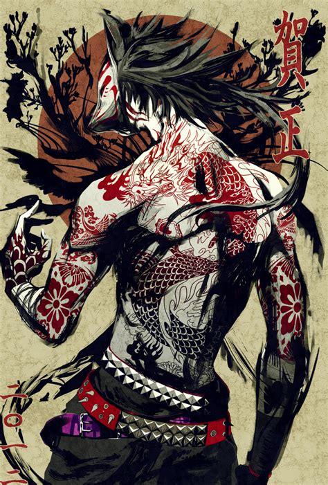 yakuza tattoo anime livly garden 933313 zerochan fantasy lads