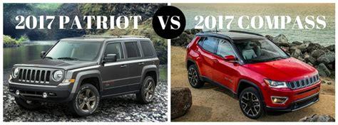 Jeep Patriot Vs Wrangler 2017 Jeep Patriot Vs 2017 Jeep Compass