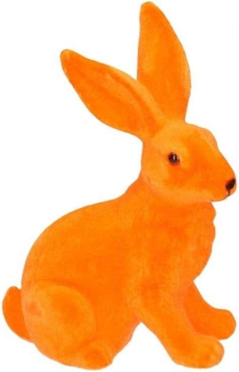 paashaas decoratie bol decoratie paashaas oranje 23 cm merkloos