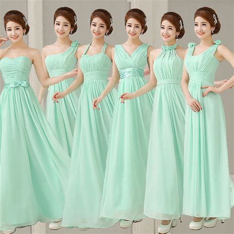 light green bridesmaid dresses aliexpress com buy mint bridesmaid dresses to party long