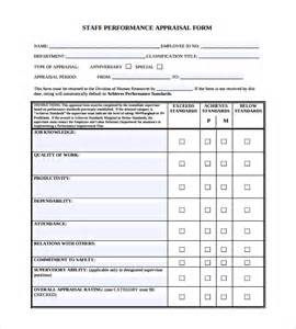 doc 404524 staff appraisals template doc12401754 staff