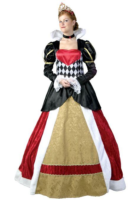 size elite queen  hearts costume