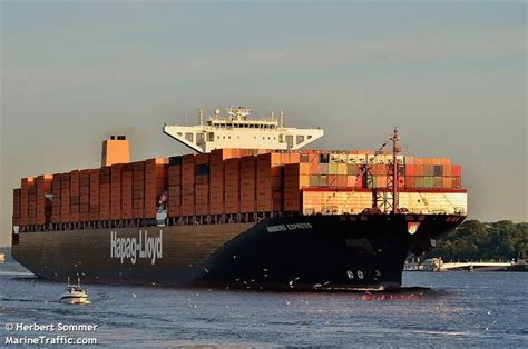 express hamburg vessel details for hamburg express container ship imo