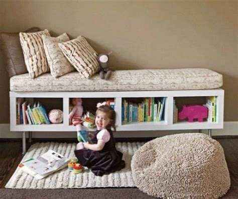 ikea bookcase turned into a bench seat children s decor
