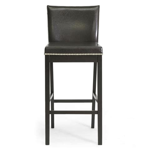 Traditional Faux Leather 30 Bar Stool By Baxton Studio by Baxton Studio Graymoor Traditional Brown Faux Leather