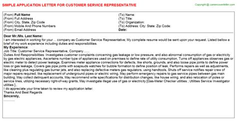 customer service representative title