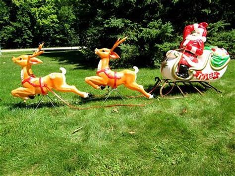 rooftop santa and sleigh 17 best images about vintage mold on reindeer yard decorations and