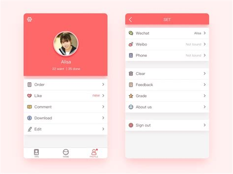 ui pattern list 50 user profile page design inspiration muzli design