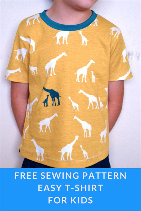 free pattern t shirt easy t shirt for kids on the cutting floor printable